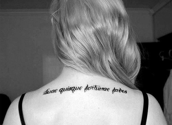Женская татуировка - надпись на Итальянском